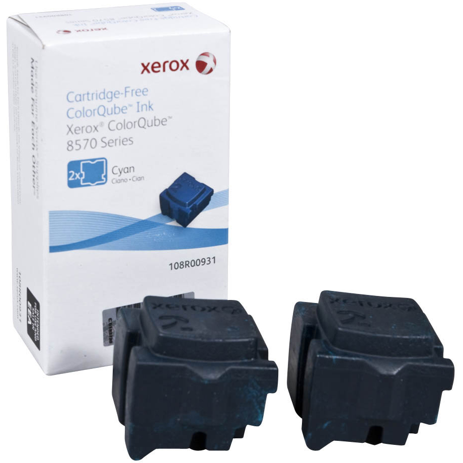 Original Xerox 108R00931 Cyan Twin Pack Solid Ink (108R00931)