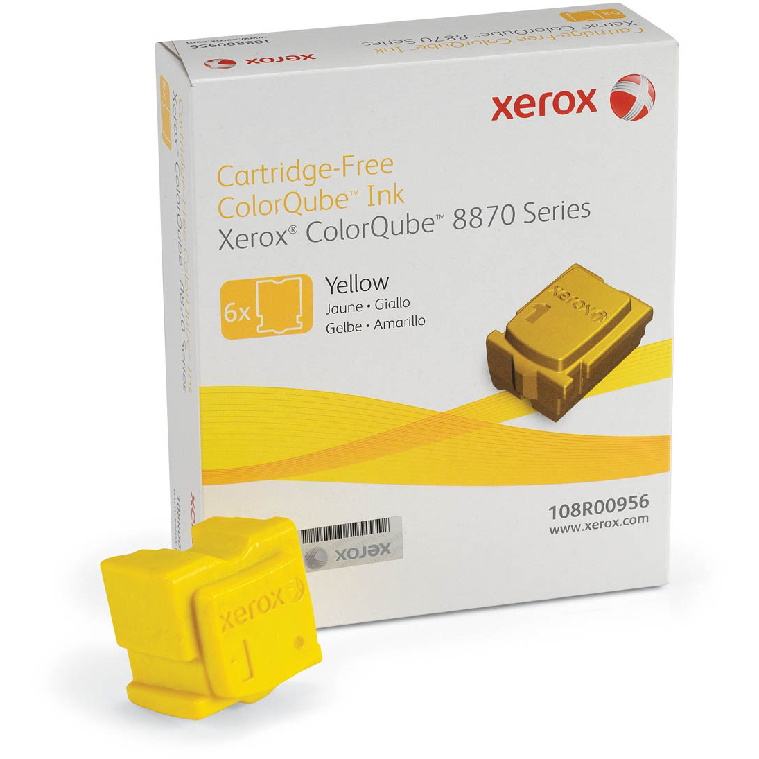 Original Xerox 108R00956 Yellow 6 Pack Solid Ink (108R00956)