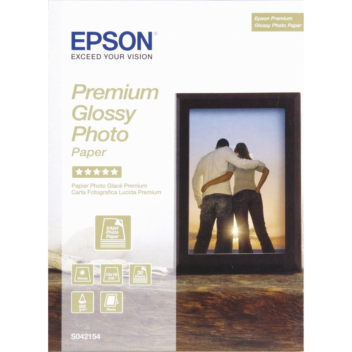 Original Epson S042154 255gsm B6 Photo Paper - 30 Sheets (C13S042154)