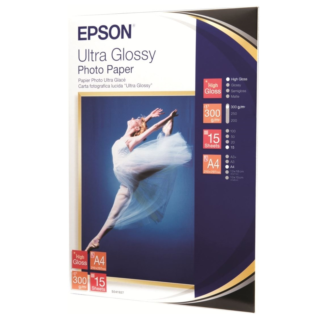 Original Epson S041927 255gsm A4 Photo Paper - 15 Sheets (C13S041927)