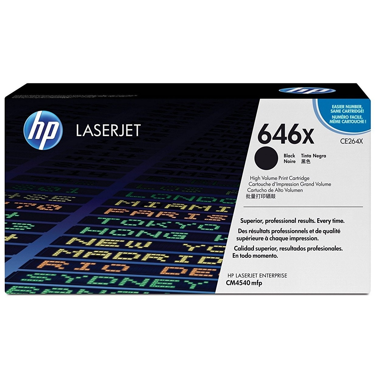 Original HP 646X Black High Capacity Toner Cartridge (CE264X)