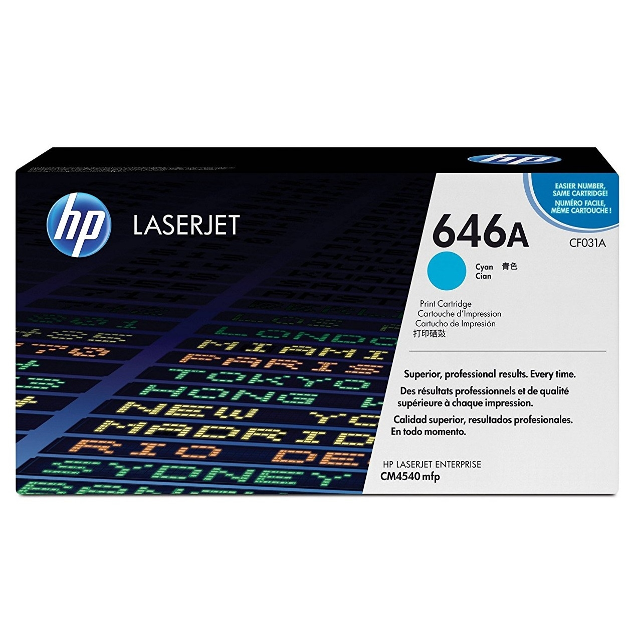 Original HP 646A Cyan High Capacity Toner Cartridge (CF031A)