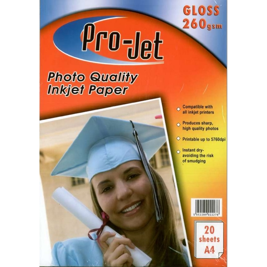 Original Pro-Jet Glossy A4 260gsm Photo Paper - 20 sheets