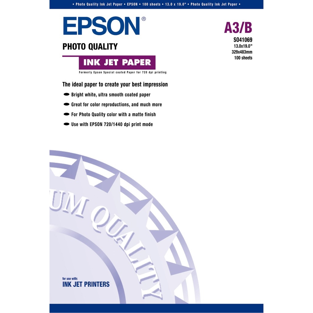 Original Epson S041069 104gsm A3+ Inkjet Paper - 100 Sheets (C13S041069)