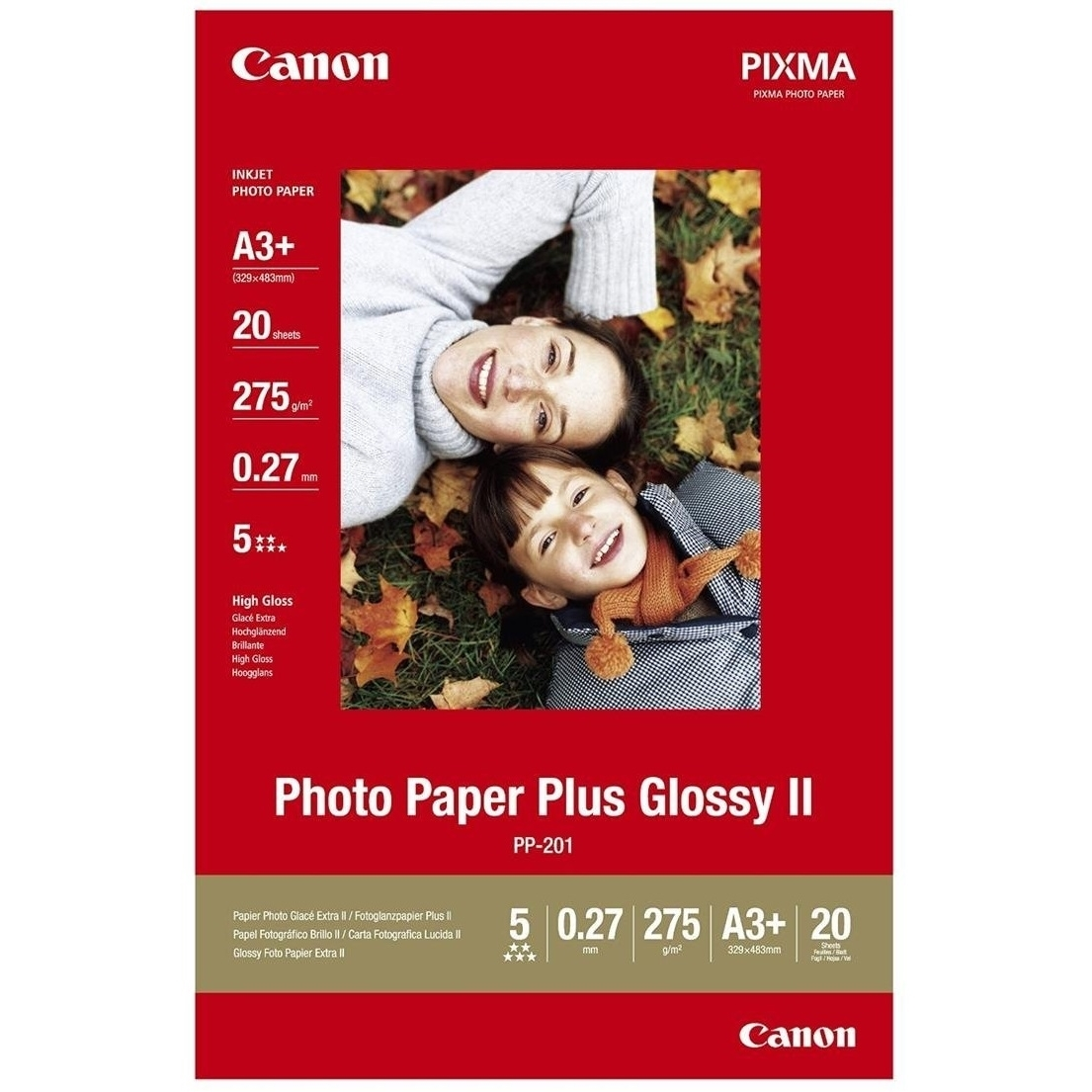Original Canon PP-201 270gsm A3+ Photo Paper - 20 Sheets (2311B021)