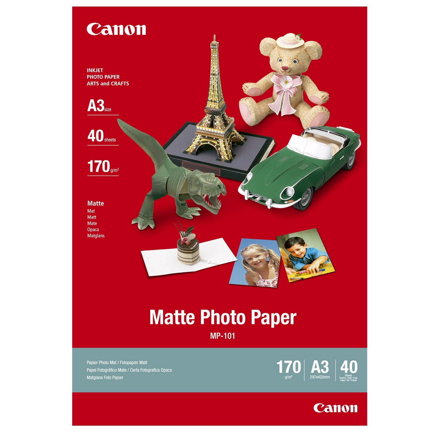 Original Canon MP-101 170gsm A3 Photo Paper - 40 Sheets (7981A008)