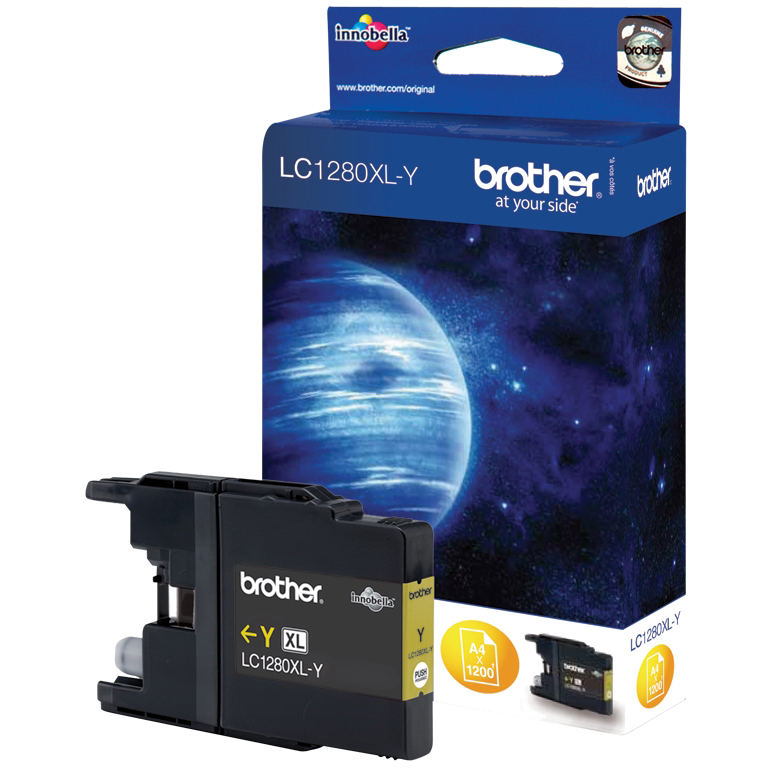 Original Brother LC1280XLY Yellow Super High Capacity Ink Cartridge (LC1280XLY)
