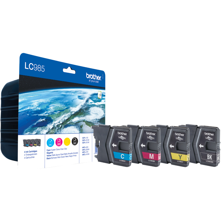 Original Brother LC985 CMYK Multipack Ink Cartridges (LC985VALBPRF)