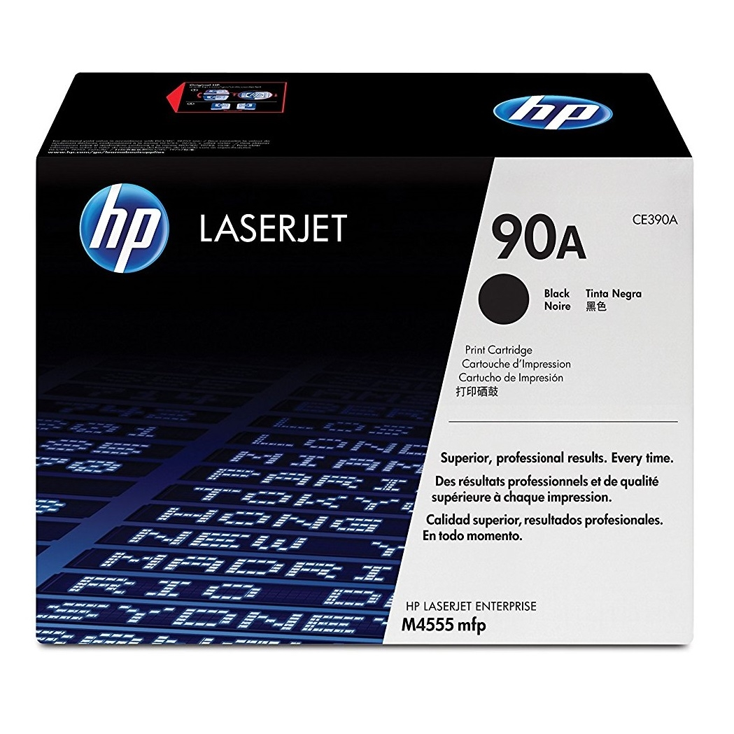 Original HP 90A Black Toner Cartridge (CE390A)