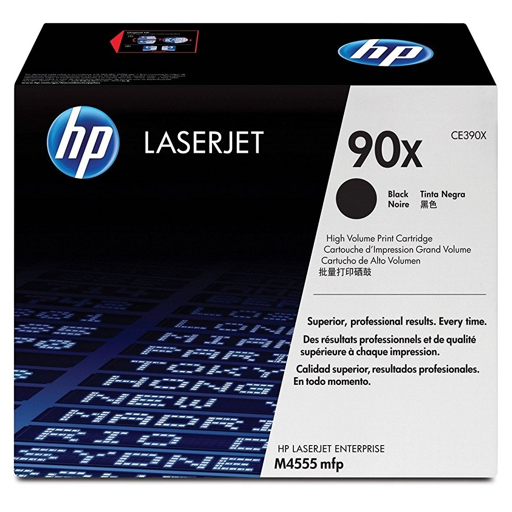 Original HP 90X Black High Capacity Toner Cartridge (CE390X)