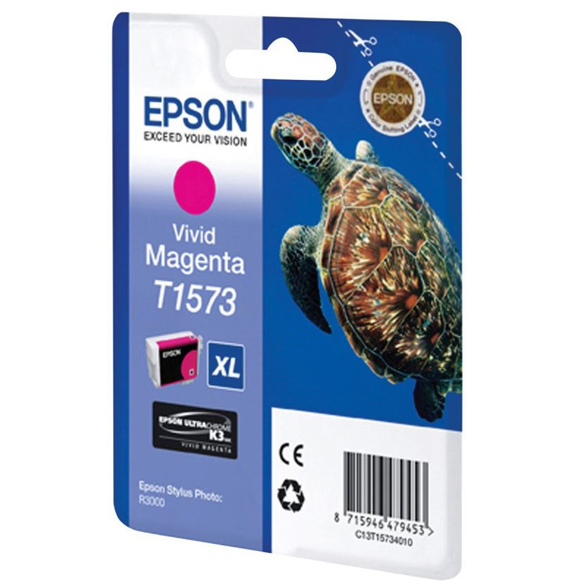 Original Epson T1573 Vivid Magenta Ink Cartridge (C13T15734010)
