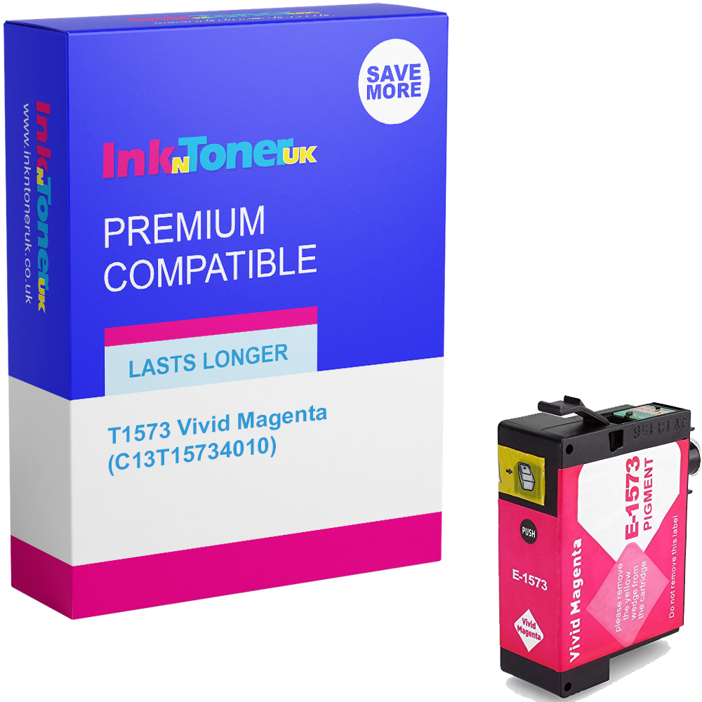 Premium Compatible Epson T1573 Vivid Magenta Ink Cartridge (C13T15734010)