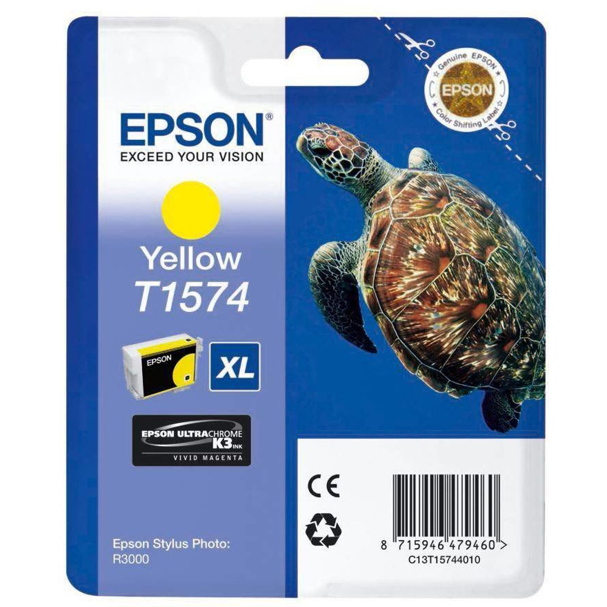 Original Epson T1574 Yellow Ink Cartridge (C13T15744010)