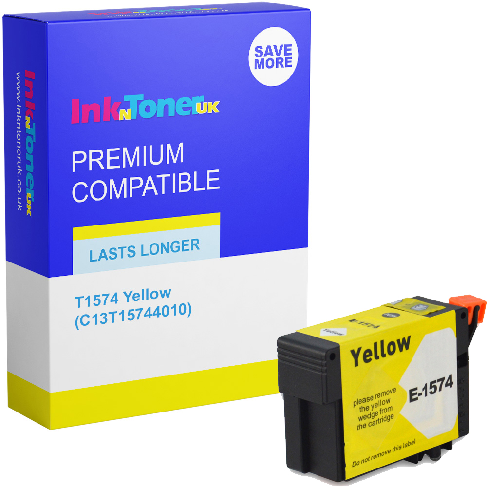 Premium Compatible Epson T1574 Yellow Ink Cartridge (C13T15744010)