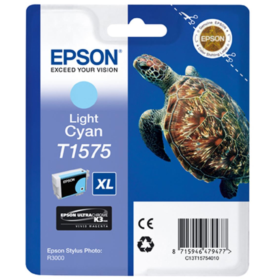 Original Epson T1575 Light Cyan Ink Cartridge (C13T15754010)