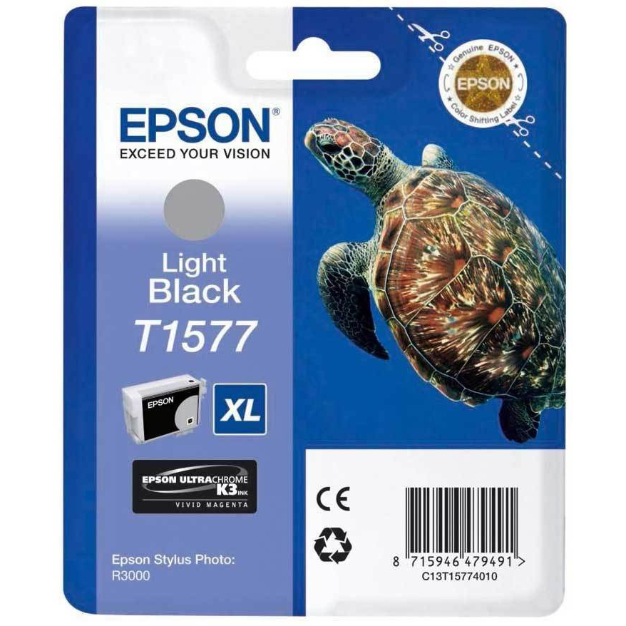 Original Epson T1577 Light Black Ink Cartridge (C13T15774010)