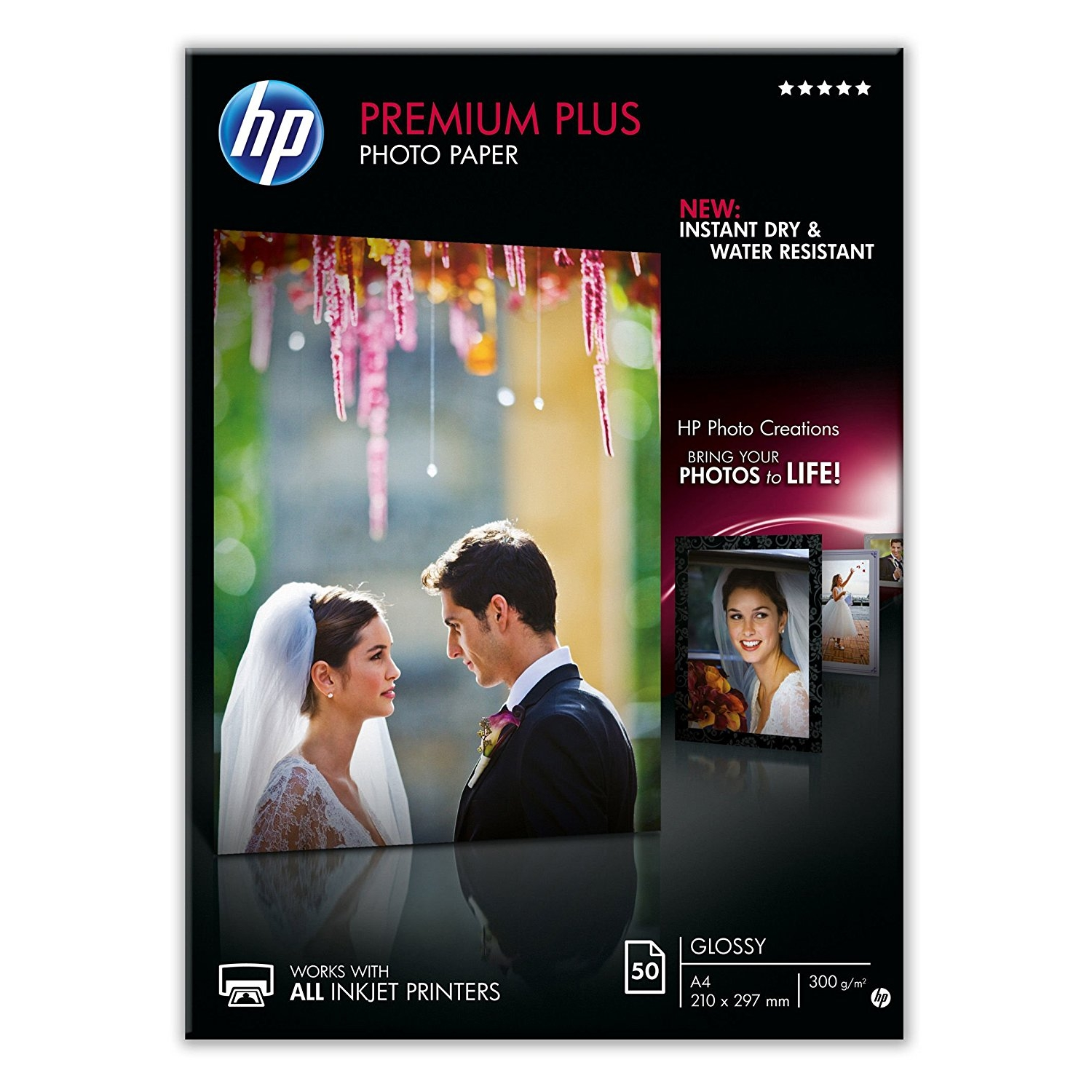 Original HP CR674A 300gsm A4 Photo Paper - 50 Sheets (CR674A)