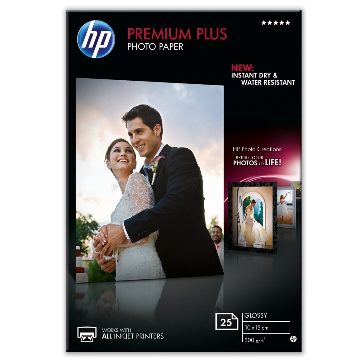 Original HP CR677A 300gsm A6 Photo Paper - 25 Sheets (CR677A)