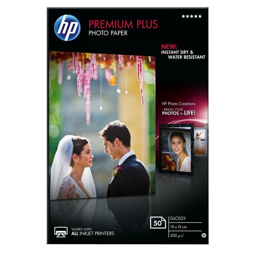 Original HP CR695A 300gsm A6 Photo Paper - 50 Sheets (CR695A)