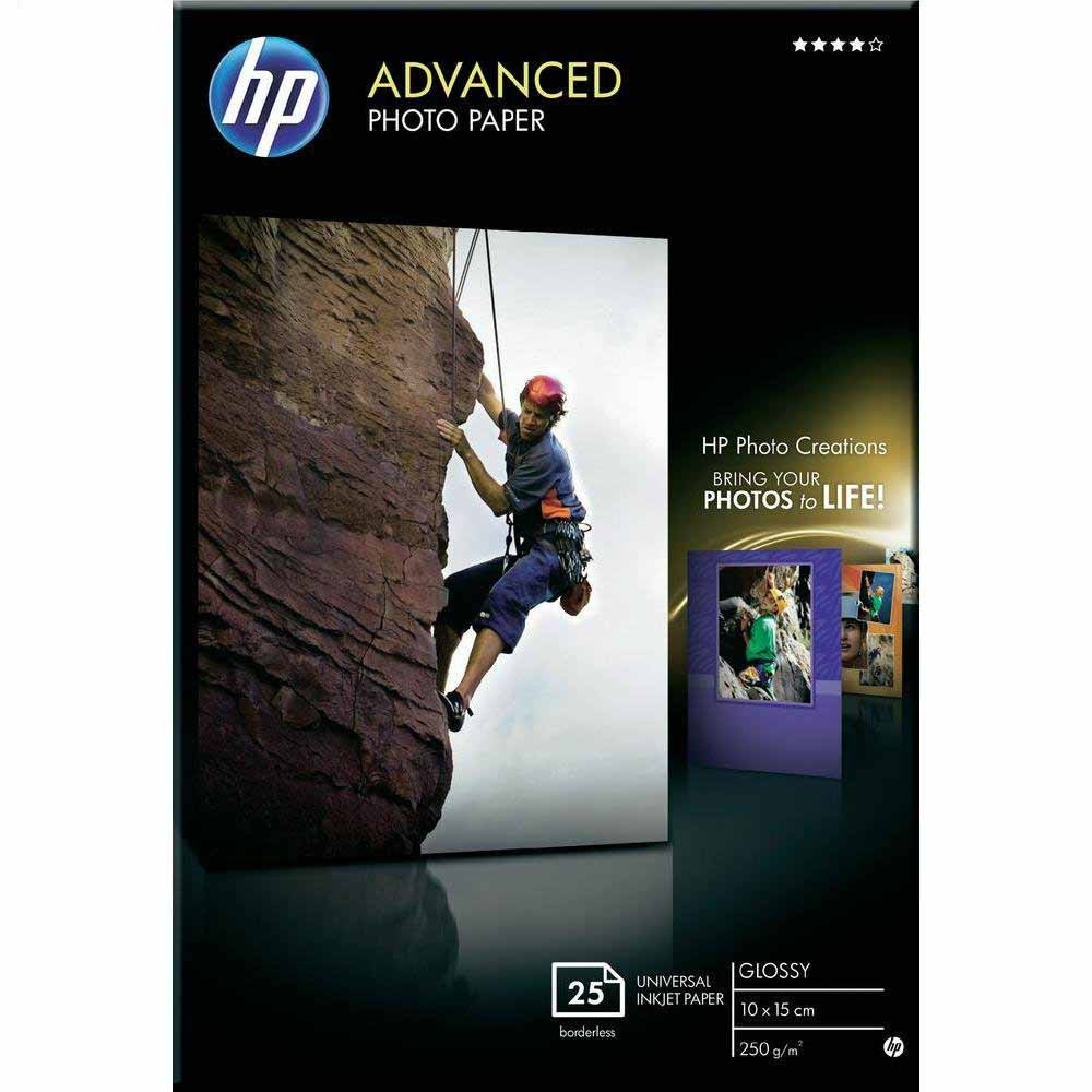 Original HP Q8691A 250gsm A6 Photo Paper - 25 Sheets (Q8691A)