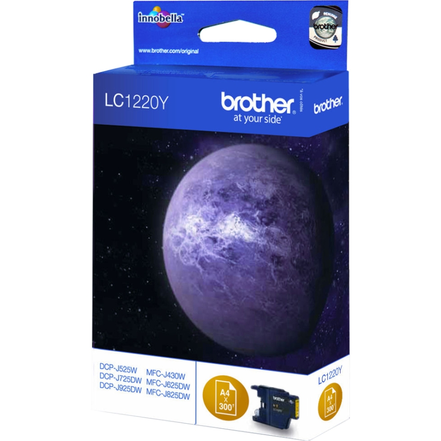 Original Brother LC1220Y Yellow Ink Cartridge (LC1220Y)