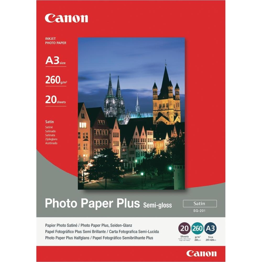Original Canon SG-201 260gsm A3 Photo Paper - 20 Sheets (1686B026)