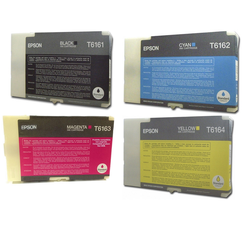 Original Epson T616 CMYK Multipack Ink Cartridges (T6161 / T6162 / T6163 / T6164)