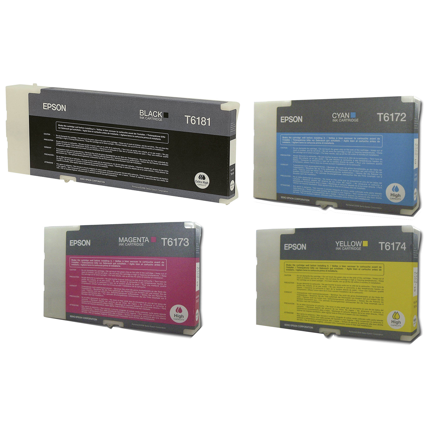 Original Epson T61 CMYK Multipack Ink Cartridges (T6172 / T6173 / T6174 / T6181)