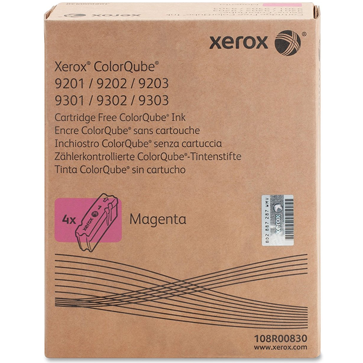 Original Xerox 108R00830 Magenta 4 Pack Solid Ink (108R00830)