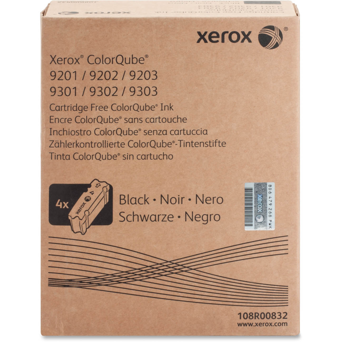 Original Xerox 108R00832 Black 4 Pack Solid Ink (108R00832)