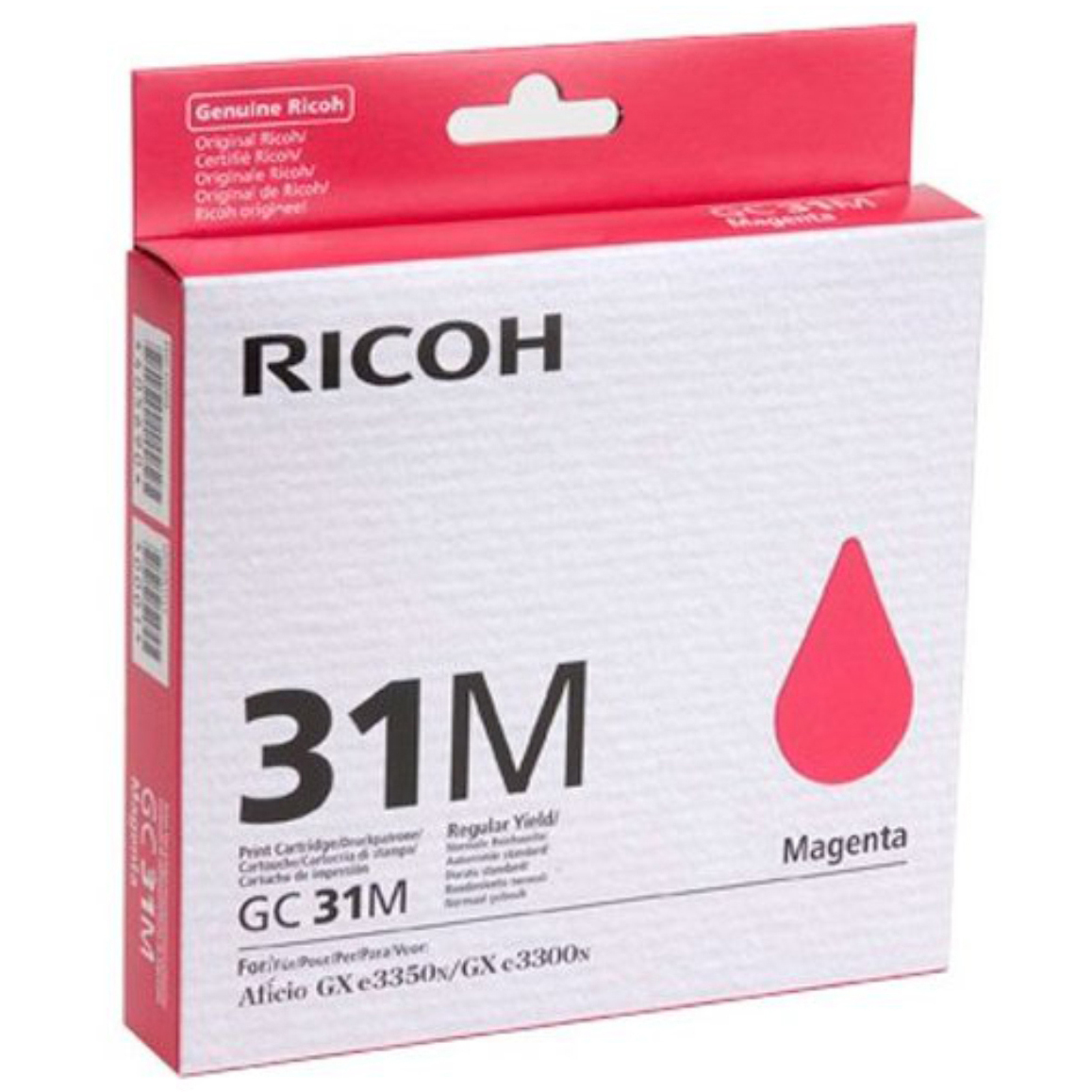 Original Ricoh GC31M Magenta Gel Ink Cartridge (405690)
