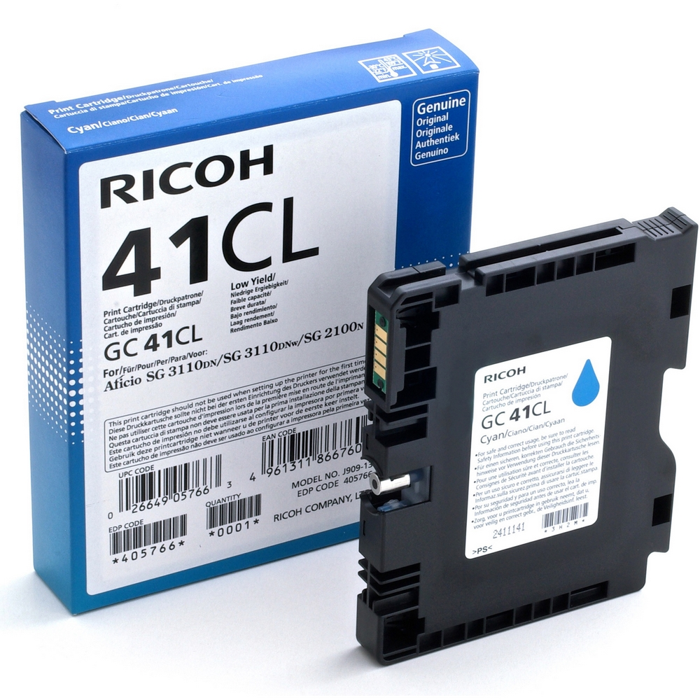 Original Ricoh GC41CL Cyan Gel Ink Cartridge (405766)