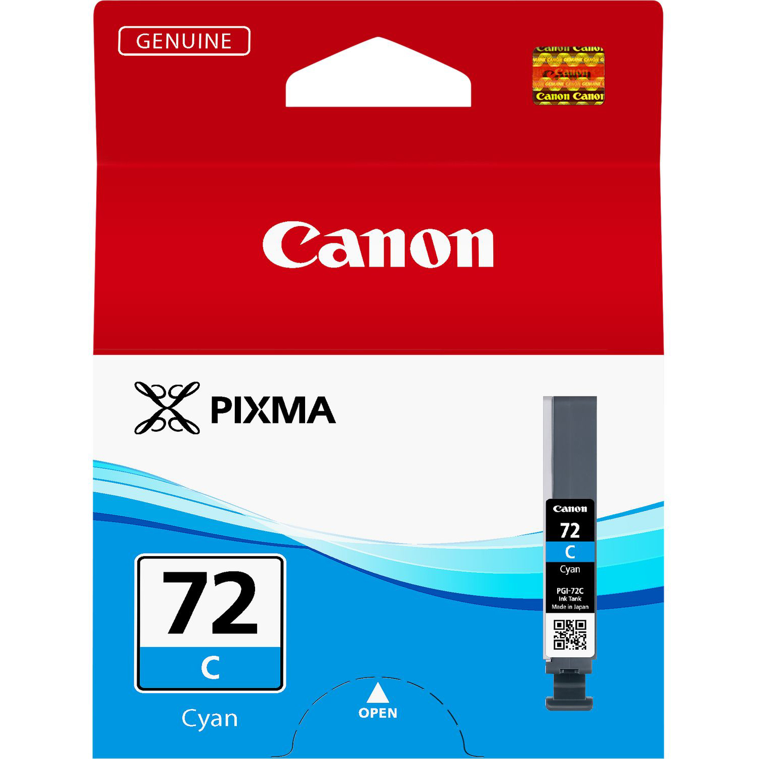 Original Canon PGI-72C Cyan Ink Cartridge (6404B001)