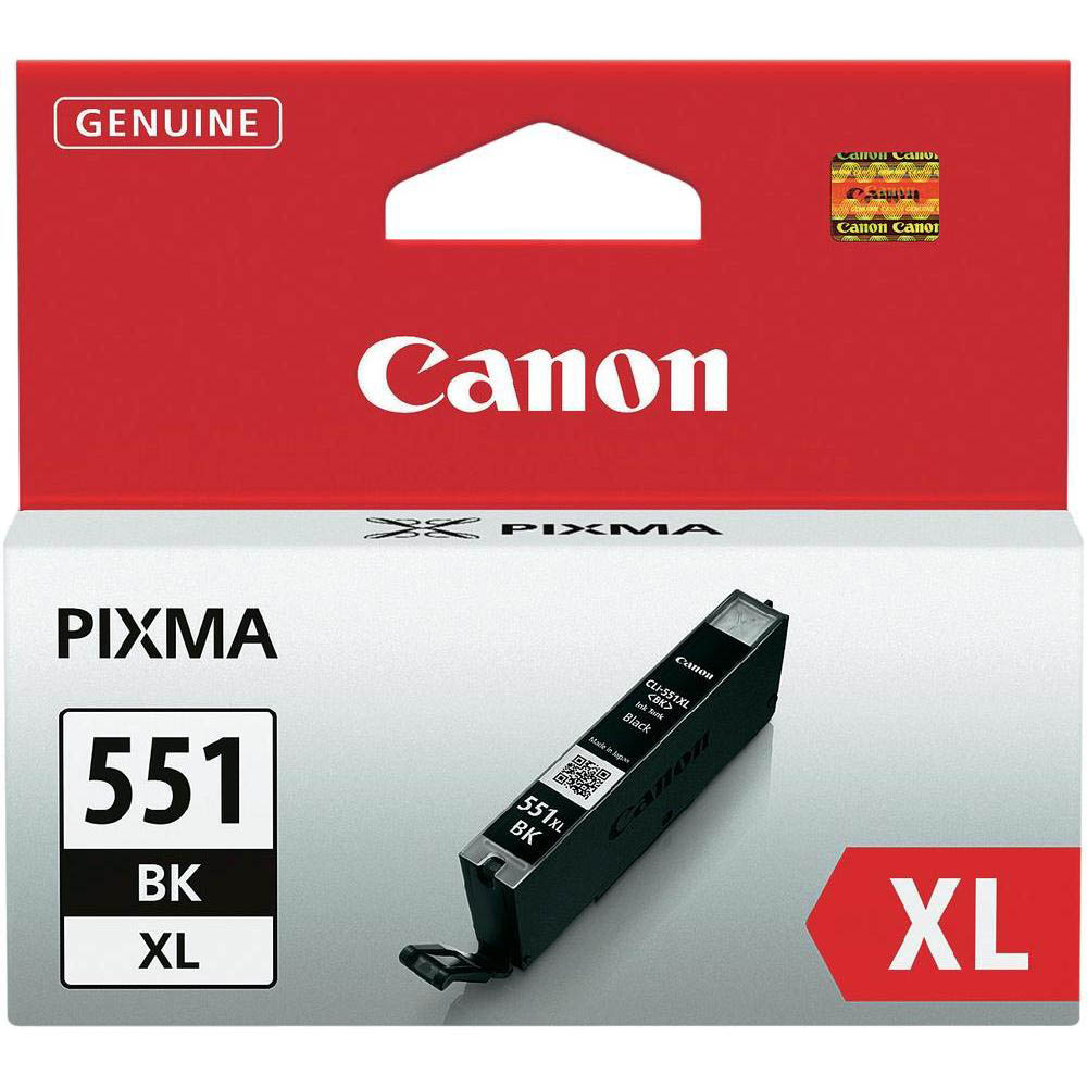 Original Canon CLI-551BKXL Black High Capacity Ink Cartridge (6443B001)