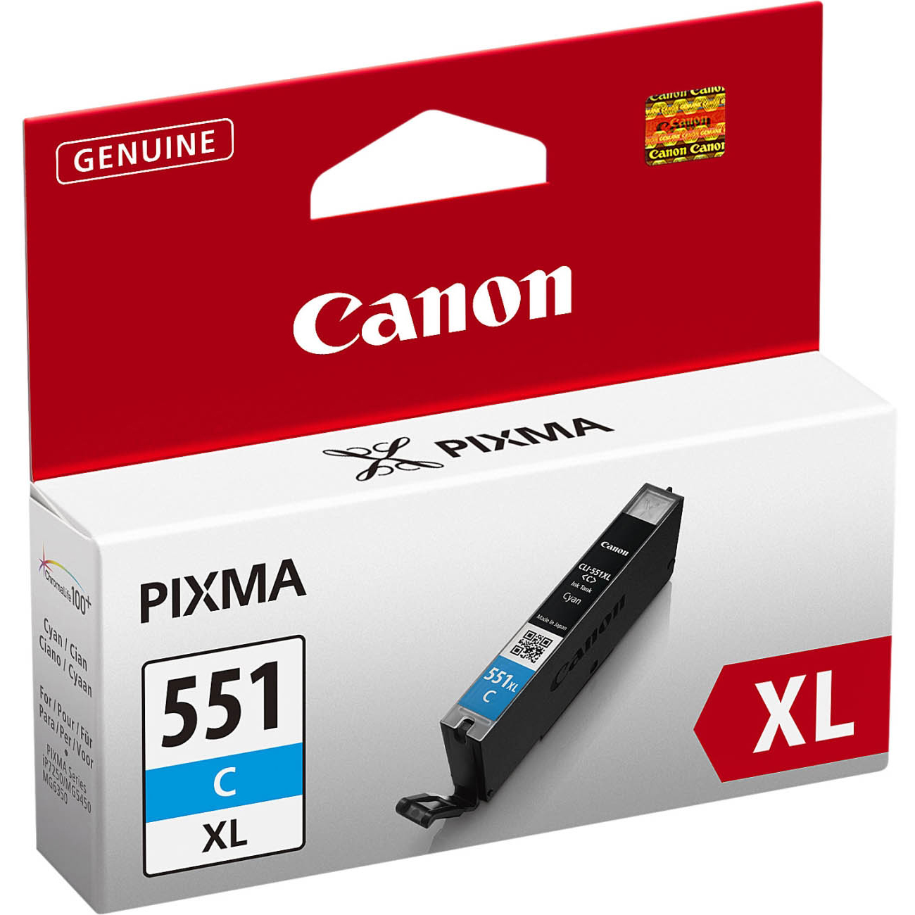 Original Canon CLI-551CXL Cyan High Capacity Ink Cartridge (6444B001)