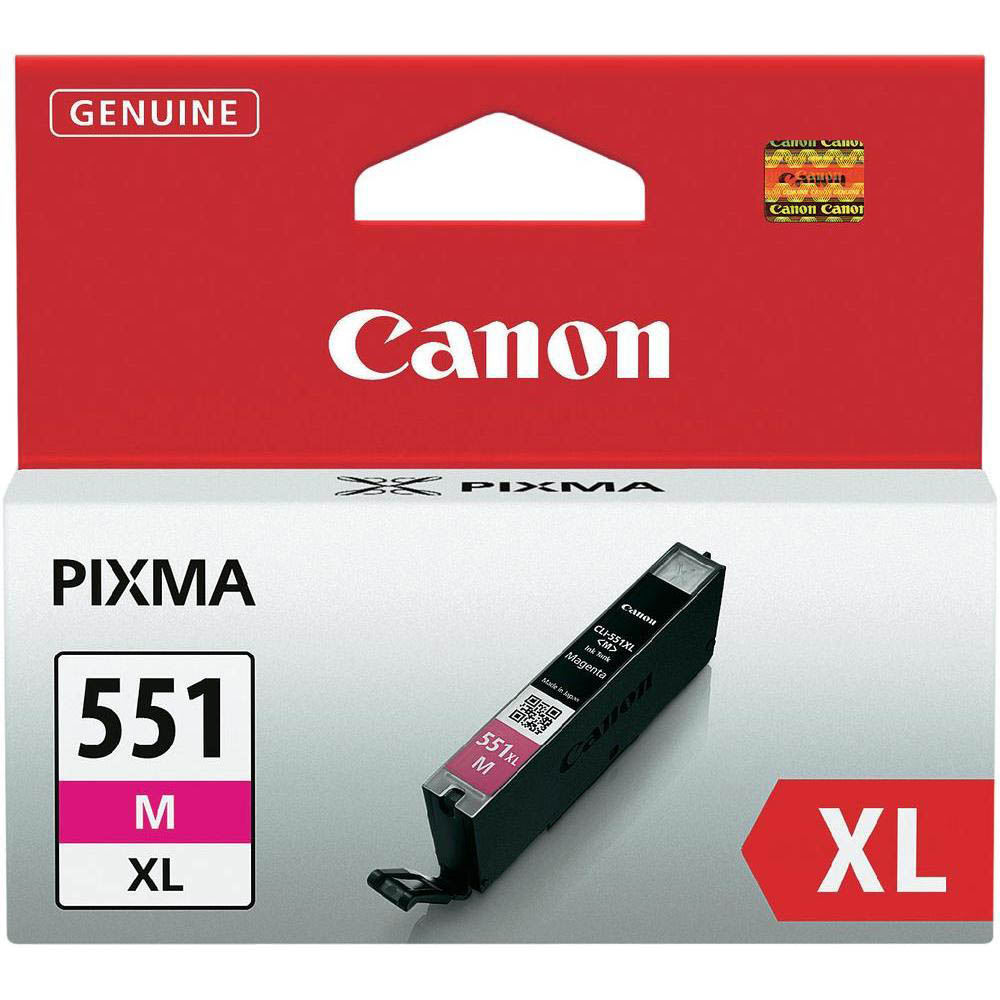 Original Canon CLI-551MXL Magenta High Capacity Ink Cartridge (6445B001)
