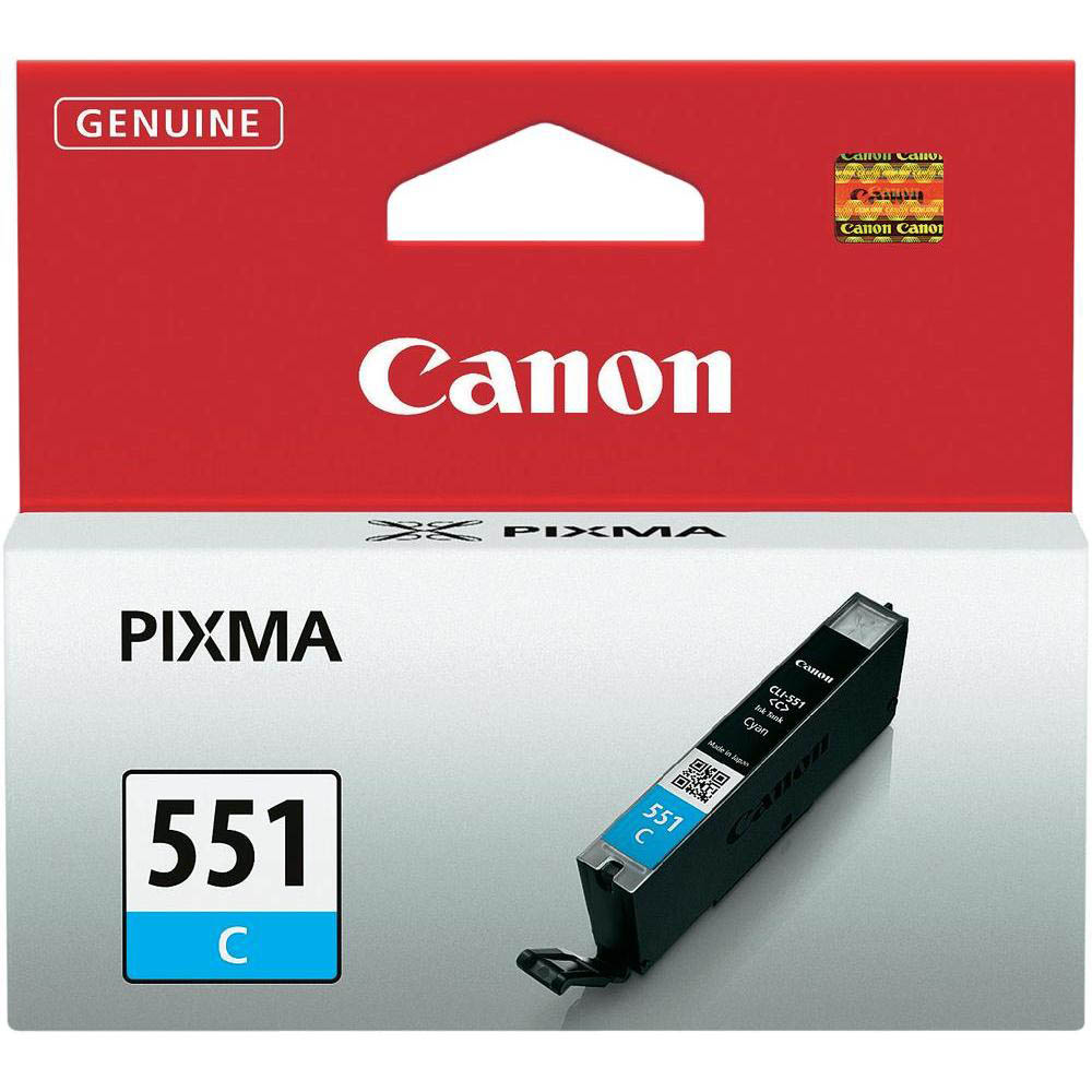 Original Canon CLI-551C Cyan Ink Cartridge (6509B001)
