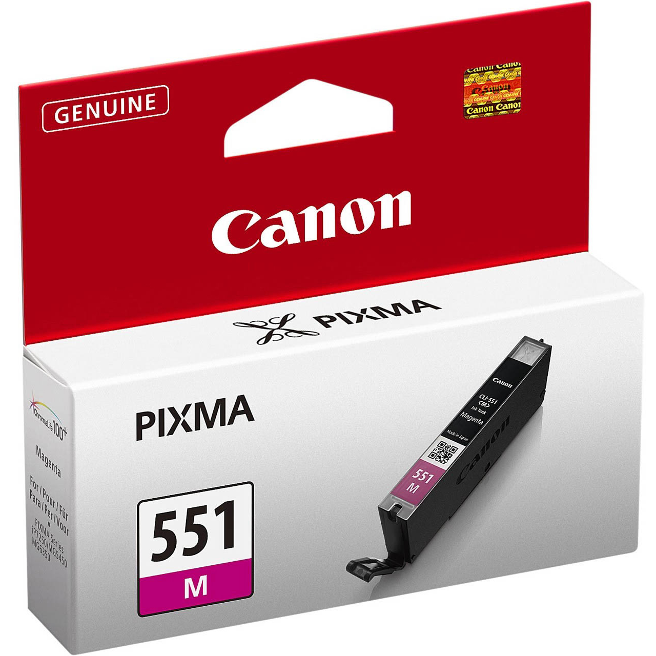 Original Canon CLI-551M Magenta Ink Cartridge (6510B001)