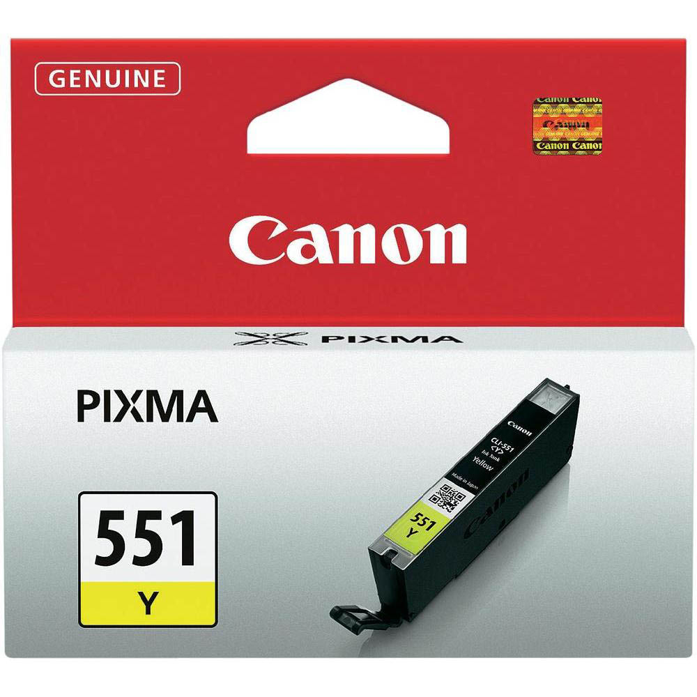 Original Canon CLI-551Y Yellow Ink Cartridge (6511B001)