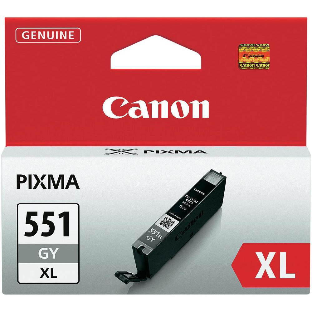 Original Canon CLI-551GYXL Grey High Capacity Ink Cartridge (6447B001)