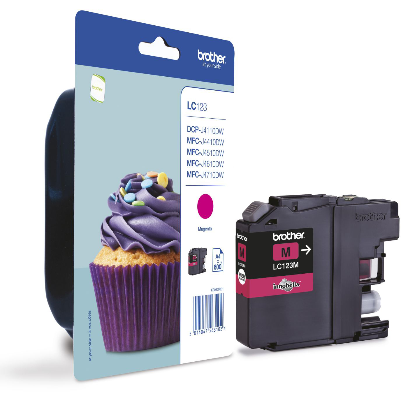 Original Brother LC123 Magenta Ink Cartridge (LC123M)