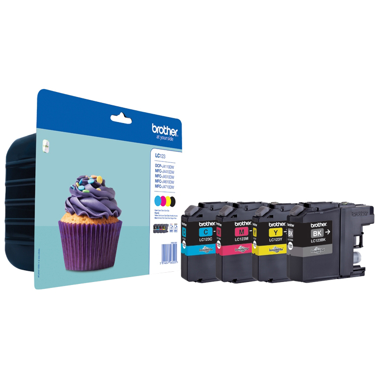 Original Brother LC123 CMYK Multipack Ink Cartridges (LC123VALBP)