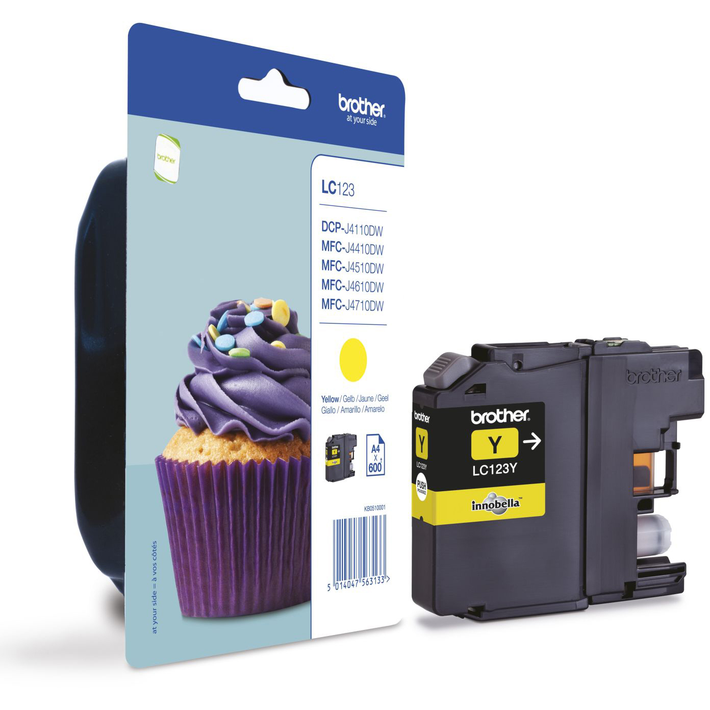 Original Brother LC123 Yellow Ink Cartridge (LC123Y)