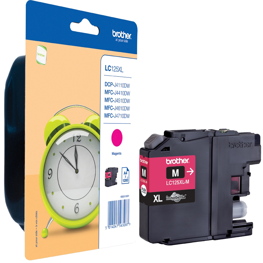 Original Brother LC125XL Magenta High Capacity Ink Cartridge (LC125XLM)