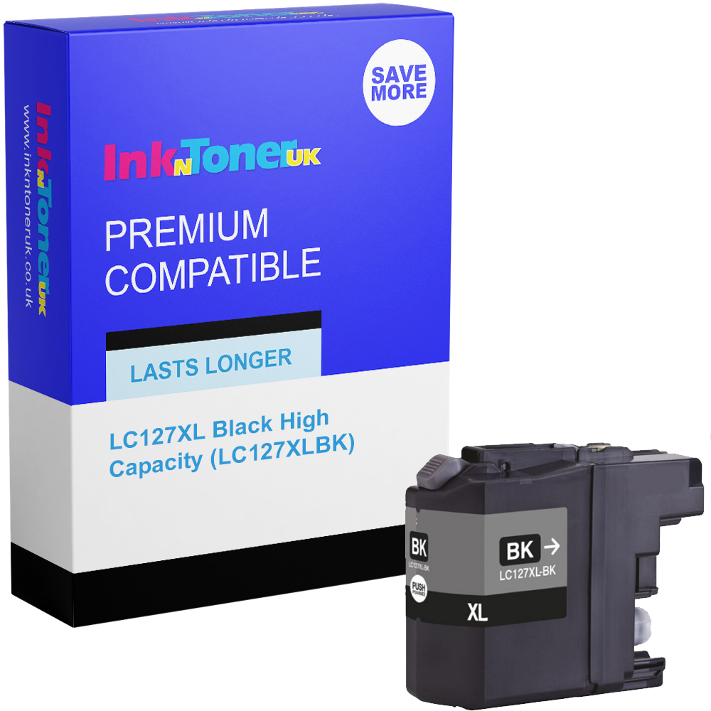 Premium Compatible Brother LC127XL Black High Capacity Ink Cartridge (LC127XLBK)