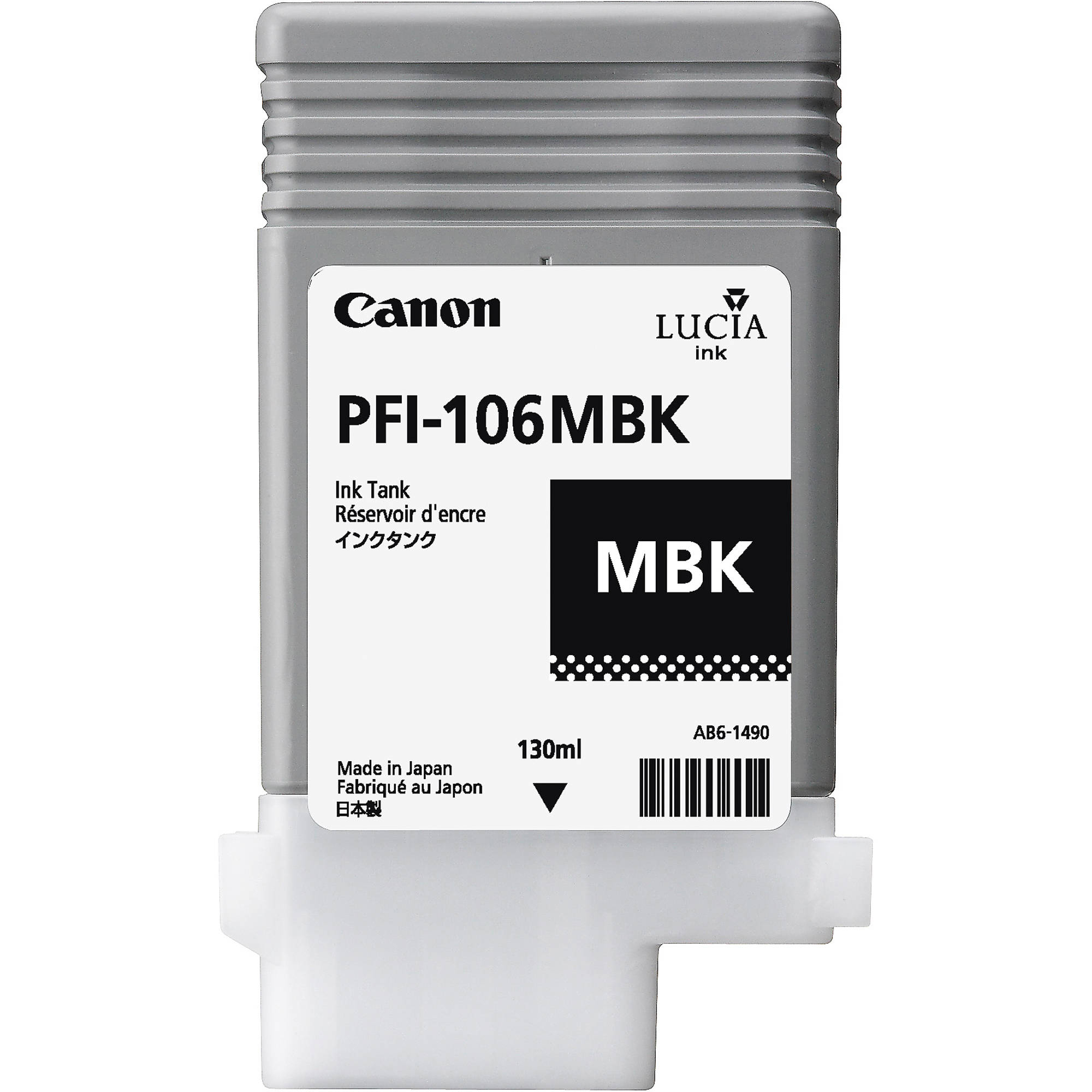 Original Canon PFI-106MBK Matte Black Ink Cartridge (6620B001)