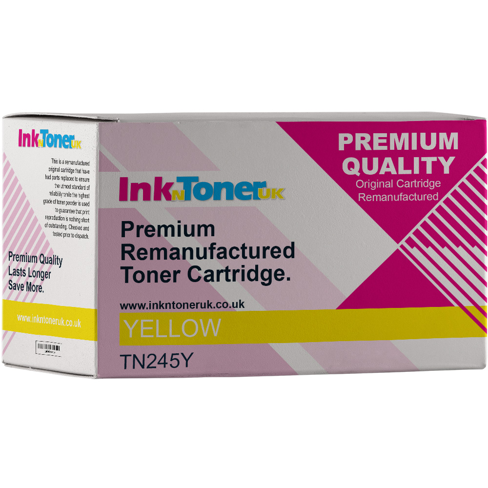 Premium Remanufactured Brother TN-245Y Yellow High Capacity Toner Cartridge (TN245Y)