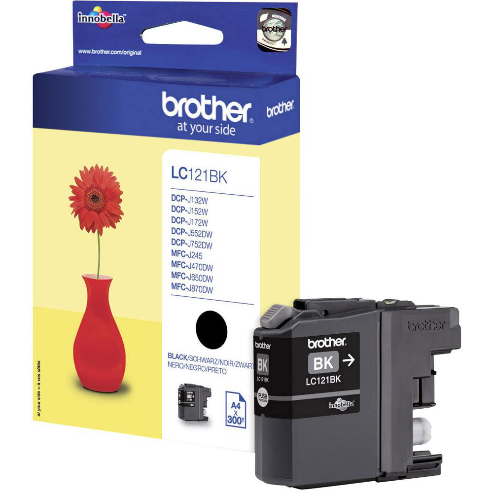 Original Brother LC121 Black Ink Cartridge (LC121BK)