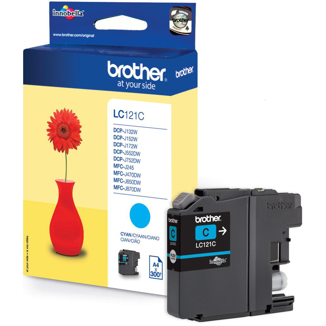 Original Brother LC121 Cyan Ink Cartridge (LC121C)