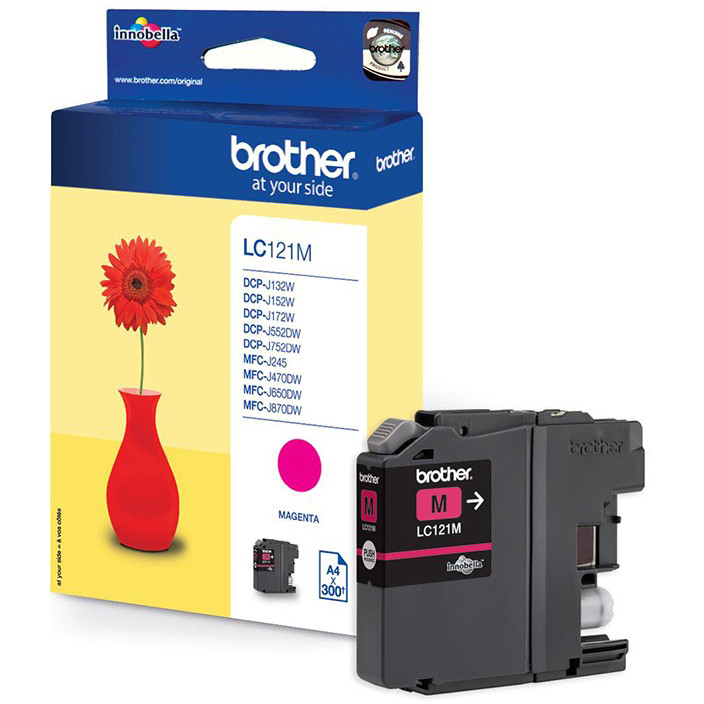 Original Brother LC121 Magenta Ink Cartridge (LC121M)